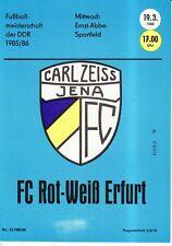 OL 85/86 FC Carl Zeiss Jena - FC Rot-Weiß Erfurt