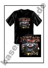 T-shirt #117 American Heritage bike, Route 66 Biker estados unidos custombike Hot Rod Rocker