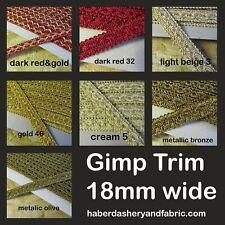Silky Gimp 18mm Braid Upholstery Edging Trim Blind Costume Furnishing by Meter