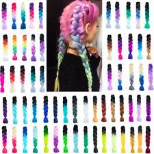 "24"" Ombre Rainbow Xpression Jumbo Kanekalo Braiding Hair Extensions Braids Gift"