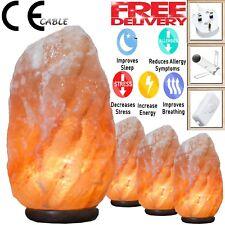 Sel de l'Himalaya Lampe Cristal Rose Rock Sel Lampe Natural Healing 100% Authent...