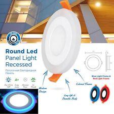 Nueva Lámpara LED Brillante Redondo Azul Retraído Cielorraso Panel Downlight Blanco Luz de día