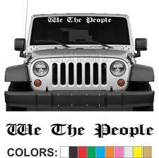 We The People Windshield Decal Sticker Diesel Turbo Car Truck USA Gun Rights UTV