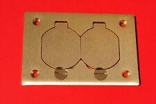 steel city p-64-ds duplex receptacle cover plate brass p64ds p 64