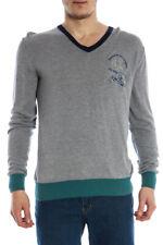 Maglia Maglione La Martina Sweater Pullover -60% Uomo Grigio 02M529-101 SALDI