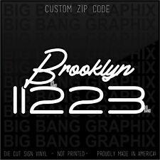 ZIP Brooklyn NY Decal Sticker CUSTOM HOME Love My City Personalized Native Born