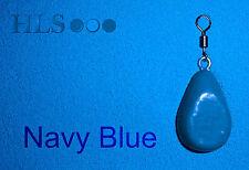 Azul Marino CABEZAL DE PLOMO plástico capa polvo - Aparejos Pesca Carpa HLS [