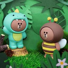 LINE FRIENDS Jungle Brown Bear Animals Cute Art Designer Toy Figurine Display