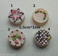 gâteau miniature 4 parfums,maison de poupée,vitrine,pâtisserie,boulangerie **CL4