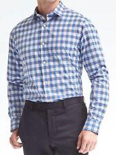 BANANA REPUBLIC Hombre Camden Ajuste Estándar Supima algodón camisa VICHY XS, S