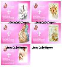 Chrzest Święty dla Dziewczynki-Opłatek na Tort Książka-Papier Ryżowy/Masa Cukrow
