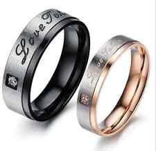 Titanium Steel LOVE TAKEN lovers Matching Promise Love Couple Ring 1 pair price
