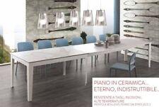TAVOLO CON PIANO CERAMICATO ALL. FINO A CM.380 /BASE IN METALLO IN 2 COLORI 613