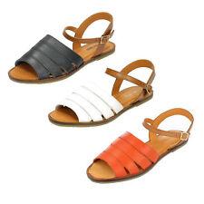 DONNA LEATHER COLLECTION sandali con cinturino alla caviglia f0933