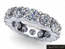 4.25Ct Round Diamond Classic Shared Prong Eternity Band Ring 950 Platinum G Si1