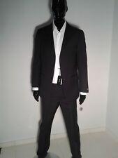 HUGO BOSS Men's Suit Black Italy 100% Genuine Size US40-EU50 US42-EU52 Wool