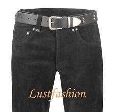 mens leather jeans black leather pants SUEDE leather trousers Lederjeans schwarz