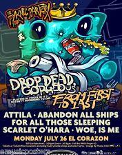 "Drop Dead Gorgeous/Attila ""PYKNIC partery Tour"" 2010 Seattle Konzert Poster"