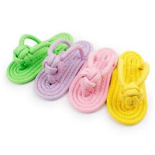 2 pezzi di animali domestici giocattoli pantofola di cotone pet masticazioneV2D6