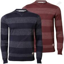 Mens Jumper Threadbare IMS 058 Sweater Pullover Knitwear Stripe Cotton Casual