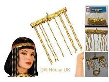 Women Hair Decor Egyptian Beaded Headdress Cleopatra Armband Fancy Dress Costume