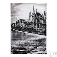 Tappeto Art Moderno Pelo Corto Nero Westminster Soggiorno Scendiletto SARANI