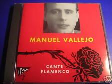 Manuel Vallejo cante flamenco Fandango CD 1989 RARE!