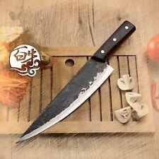 Knife Meat Steak Slicing Chef Cutlery Butcher Handmade Steel Western Kitchen Cut