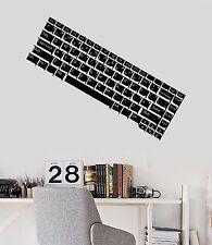 Vinyl Wall Decal Computer Keyboard IT Gamer Teen Room Stickers Mural (483ig)