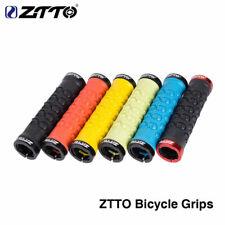 MTB Road Bike Handlebar Grip Durable Rubber Lock on Anti Slip Grips Multicolor