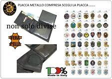 Portafoglio Porta Doc, Pelle con Placca Metallo Vega Holster Italia 1WG Scegli
