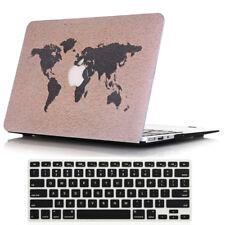 2in1 Map Design Hard Case Cove +Keyboard Skin for Macbook Air 13 A1369 A1466  #2
