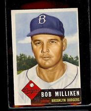 1953 TOPPS #221  BOB MILLIKEN  EX  (HIGH # SP)
