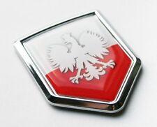 Poland White Eagle Flag Decal Car Chrome Emblem Sticker