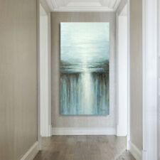 Modern Abstract Handmade Oil Painting Wall Art Canvas Framed Waterfall Landscape