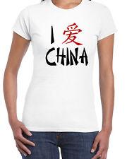 129 I Love China women's T-Shirt asian china symbol new pride east panda retro