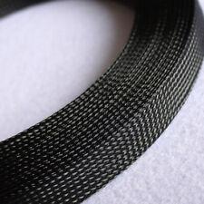 Ø3~100mm Schwarz PET Geflechtschlauch Gewebeschlauch Kabelschlauch Draht Sleeve