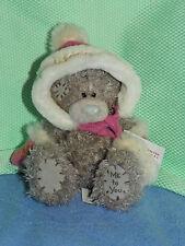 Me To You peluche 13 cm *-* HIVER ROSE *-* gants et veste à capuche pompon