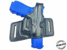 Kahr MK9 Right Hand Thumb Break Belt Leather Holster