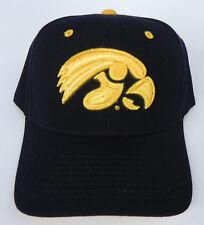 IOWA HAWEYES BLACK NCAA VINTAGE FITTED SIZED ZEPHYR DH CAP HAT NWT! f2993baeb3a4