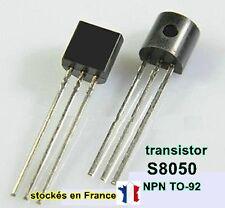 Transistor S8050 ou S8050D , polarité NPN boitier TO-92 40V 0.5A, C12.3