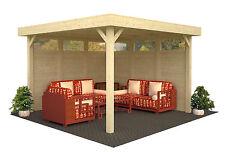 Pavillon Lucy 349x349 cm Pavillon Holzhaus Schuppen Gartenhaus Unterstand Holz