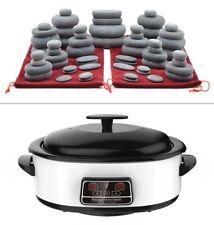 MassageMaster HOT STONE MASSAGE KIT: 60 Basalt Stones + 6 Litre Digital Heater