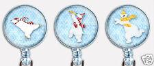 Christmas Holidays Polar Bears Badge Reel Retractable ID Name Card Holder