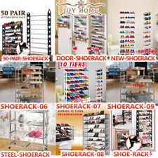 Multi Tiers Portable Steel Stackable Storage Shoe Rack Cabinet Organiser