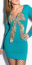 New Sexy KouCla Fine Knit Mini Dress Knitted Dress leobrosche Bix! 8116