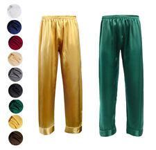 Men's Silk Lounge Pants High Quality Silk Bottoms Pajama Pants S M L XXL XXL