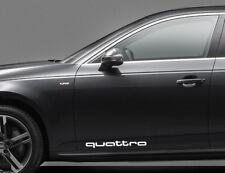Quattro Audi Car Decal Sticker - Bumper (2 Pieces)