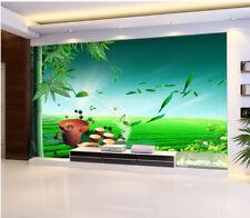 3D Green Bamboo Fresh Tea 0423 Wall Paper Wall Print Decal Wall Aj Wallpaper Ca