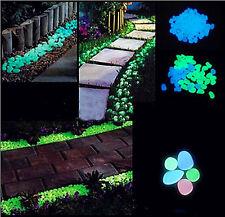 Tamaño Grande brillan en oscuridad grava Guijarro Piedra Para Decoración De Jardín Pecera vía